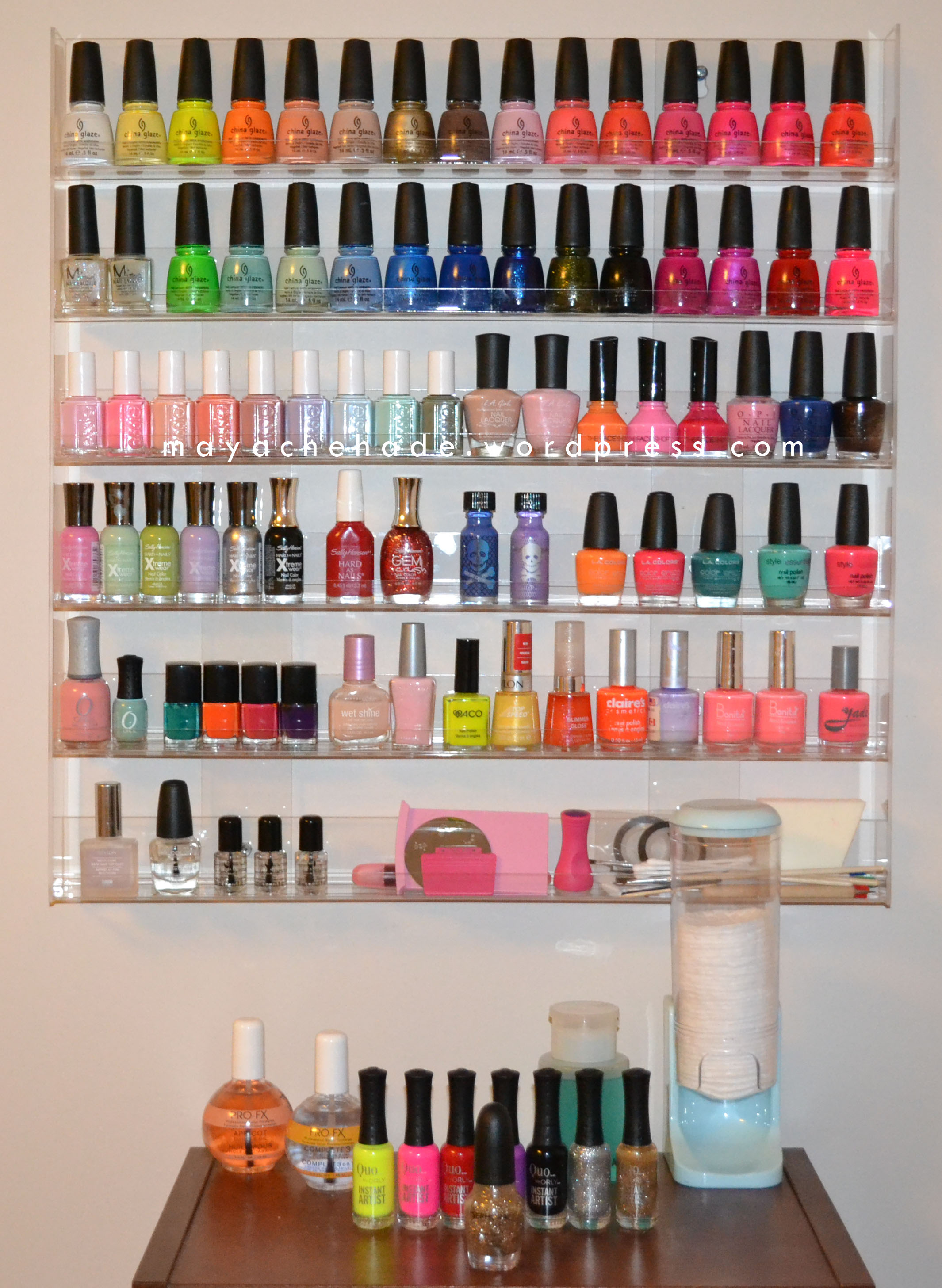Nail Polish Rack For Wall@^*